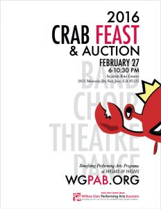 2016 Crab Feast & Auction poster