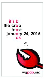 Crab Feast 2015 - It's Back business card image